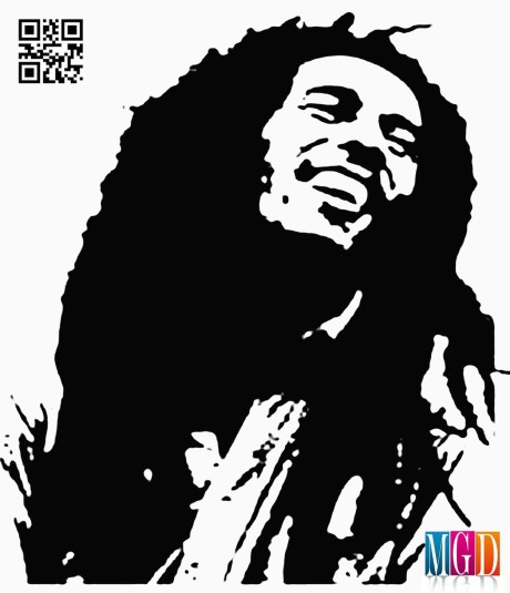 Bob Marley Vector In Photoshop Black and White