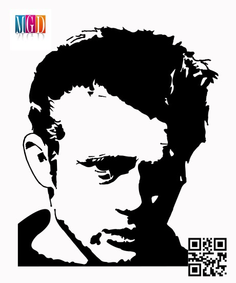 James Dean's Vector In Black and White