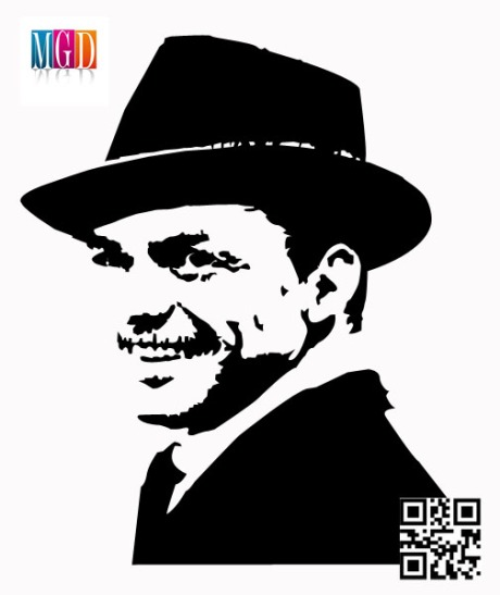 Frank Sinatra Vector Image In Black And White