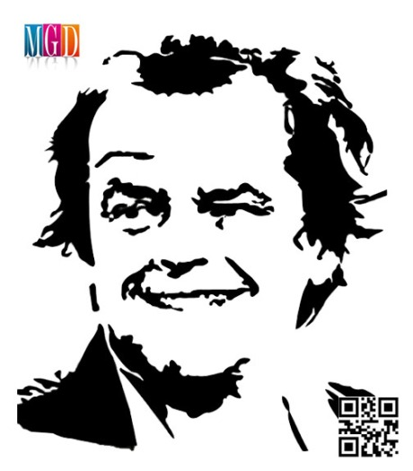 Jack Nicholson Vector Image in Black and White